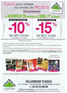 Carte Leroy Merlin Banque Accord : 3 jours exclusifs -15%