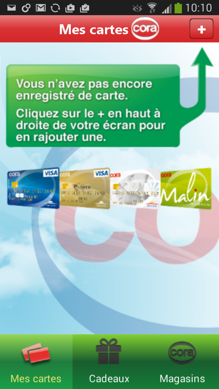 application carte cora