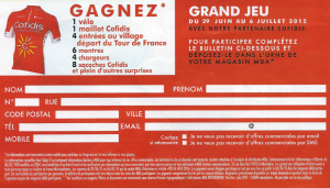 coupon grand jeu MDA