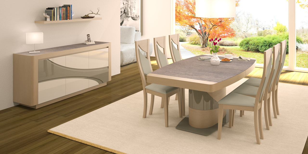 table de salle a manger moderne bois. Black Bedroom Furniture Sets. Home Design Ideas