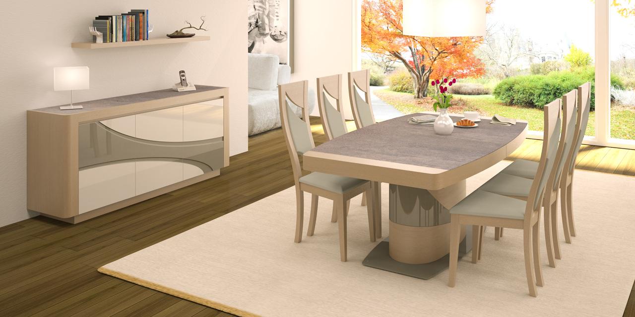 Cr dit salle manger pour un nouveau s jour - Table a manger design moderne et contemporain en verre ...