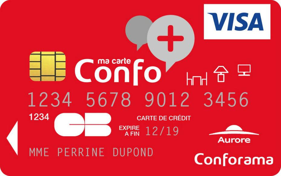 carte confo+ crédit