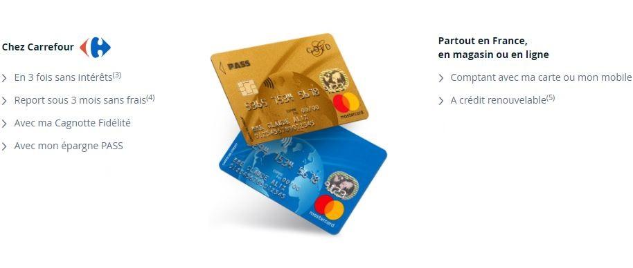 carte pass mastercard carrefour la cotisation rembours e. Black Bedroom Furniture Sets. Home Design Ideas